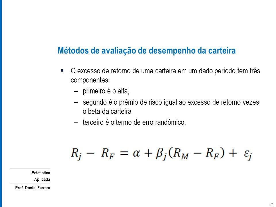 Métodos de avaliação de desempenho da carteira