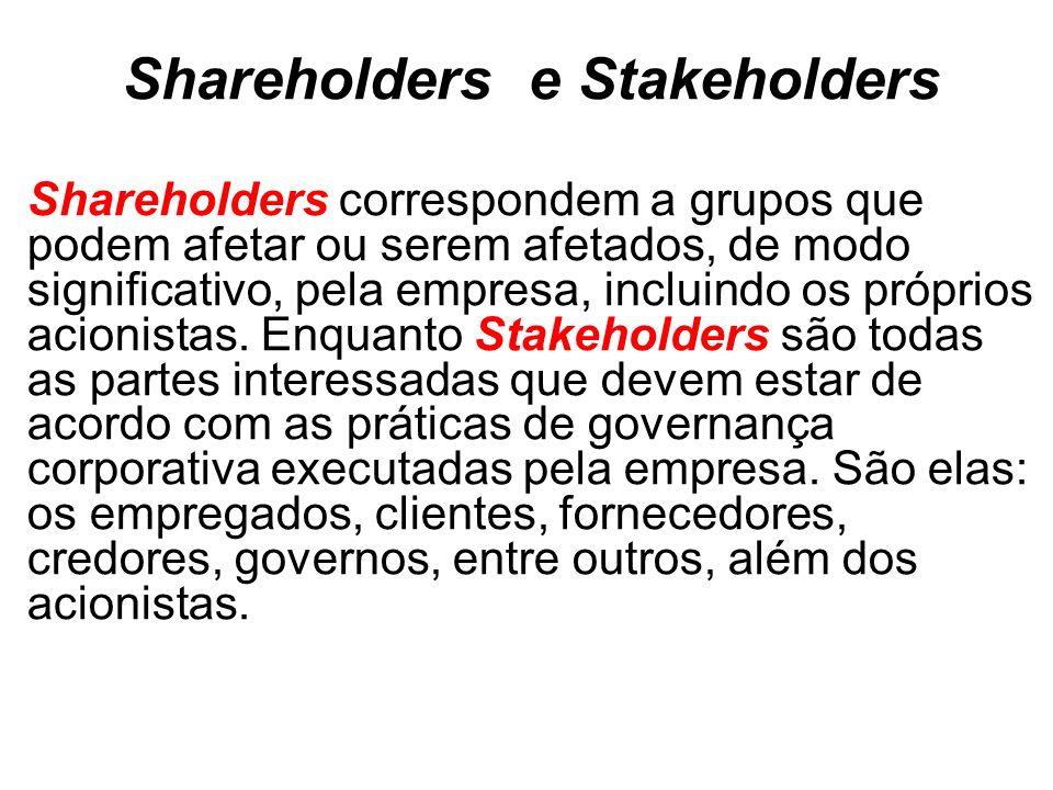 Shareholders e Stakeholders