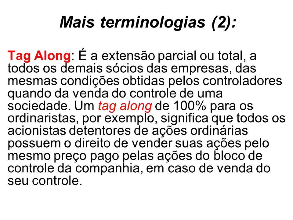 Mais terminologias (2):
