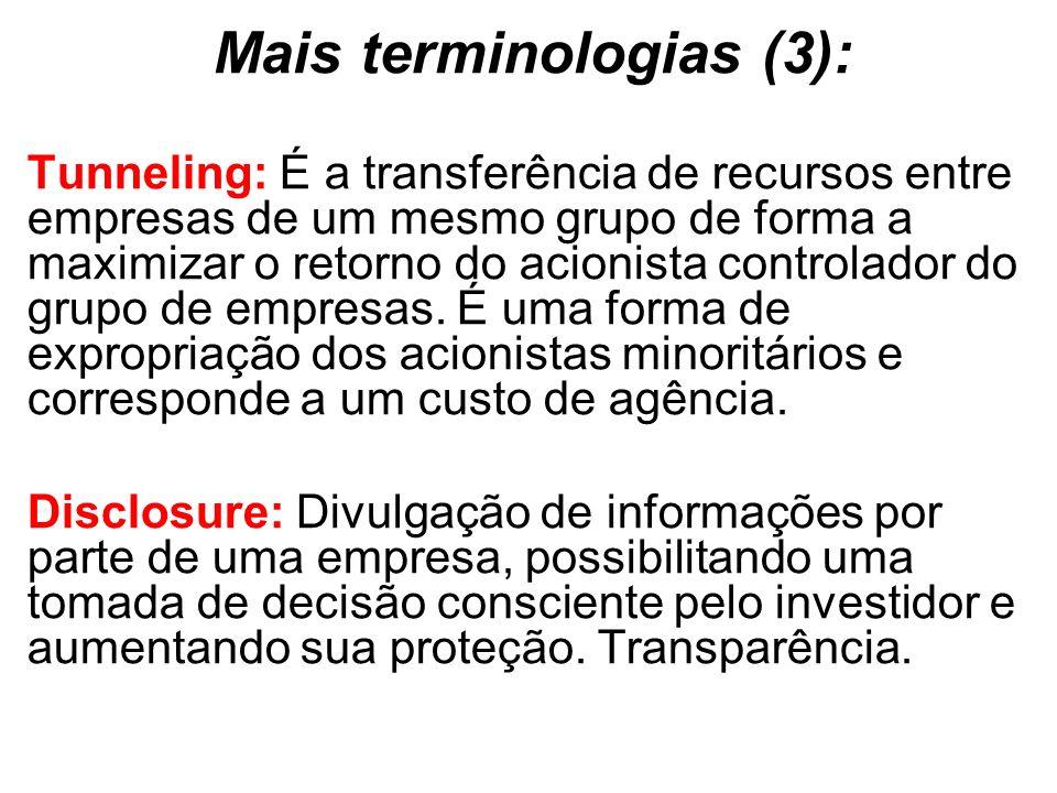 Mais terminologias (3):