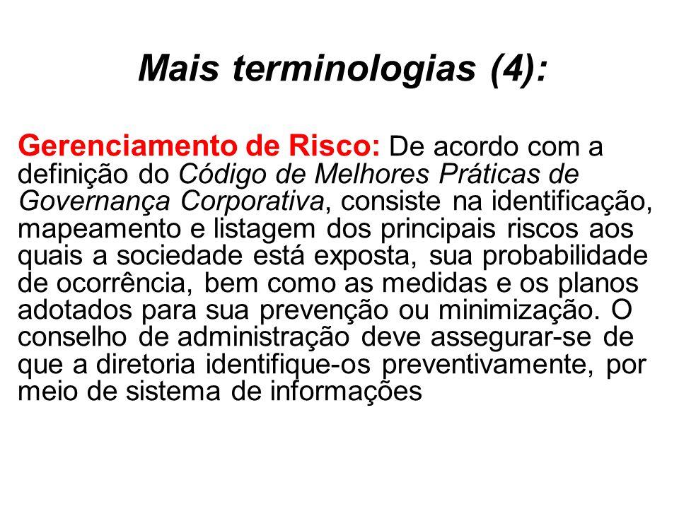 Mais terminologias (4):