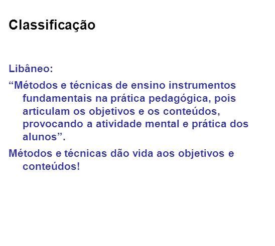 Classificação Libâneo: