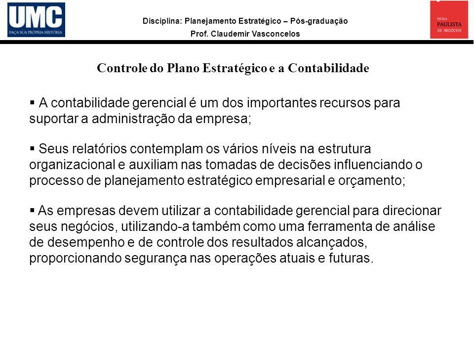 Controle do Plano Estratégico e a Contabilidade
