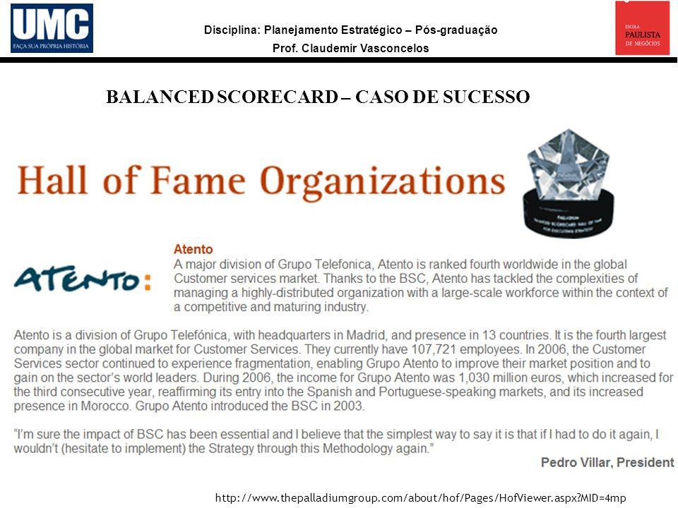 BALANCED SCORECARD – CASO DE SUCESSO