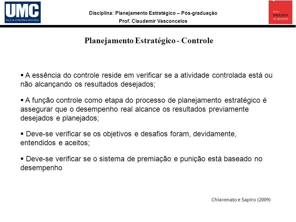 Planejamento Estratégico - Controle