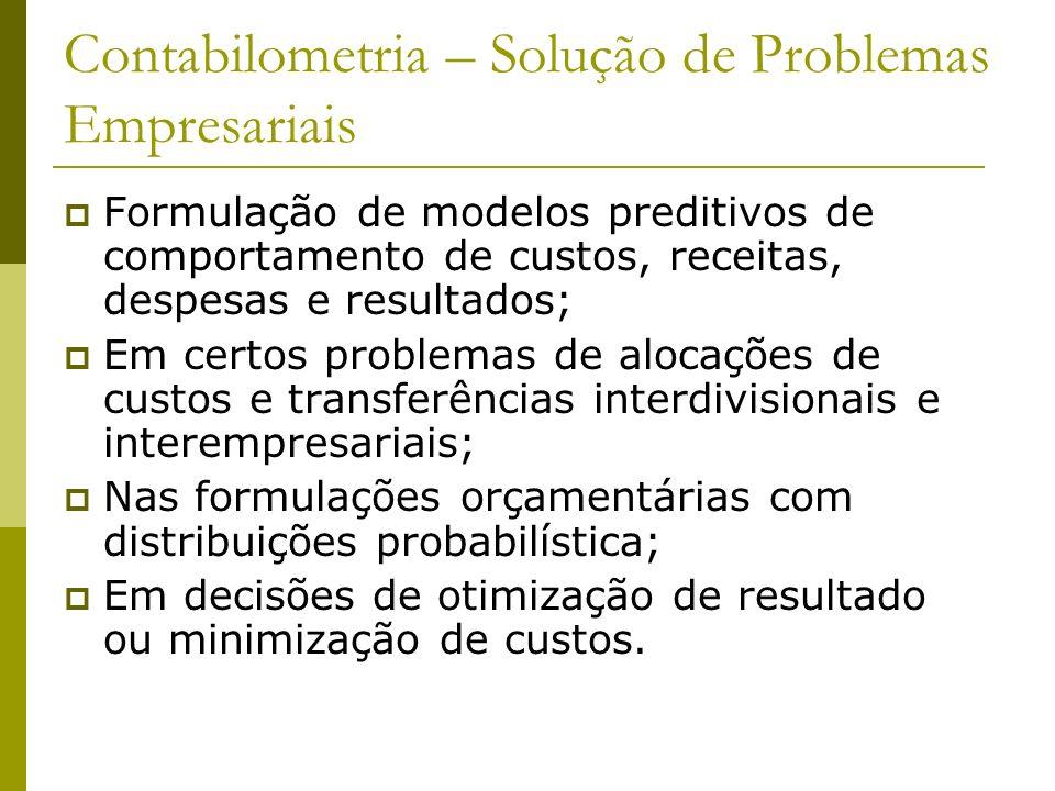 Contabilometria – Solução de Problemas Empresariais