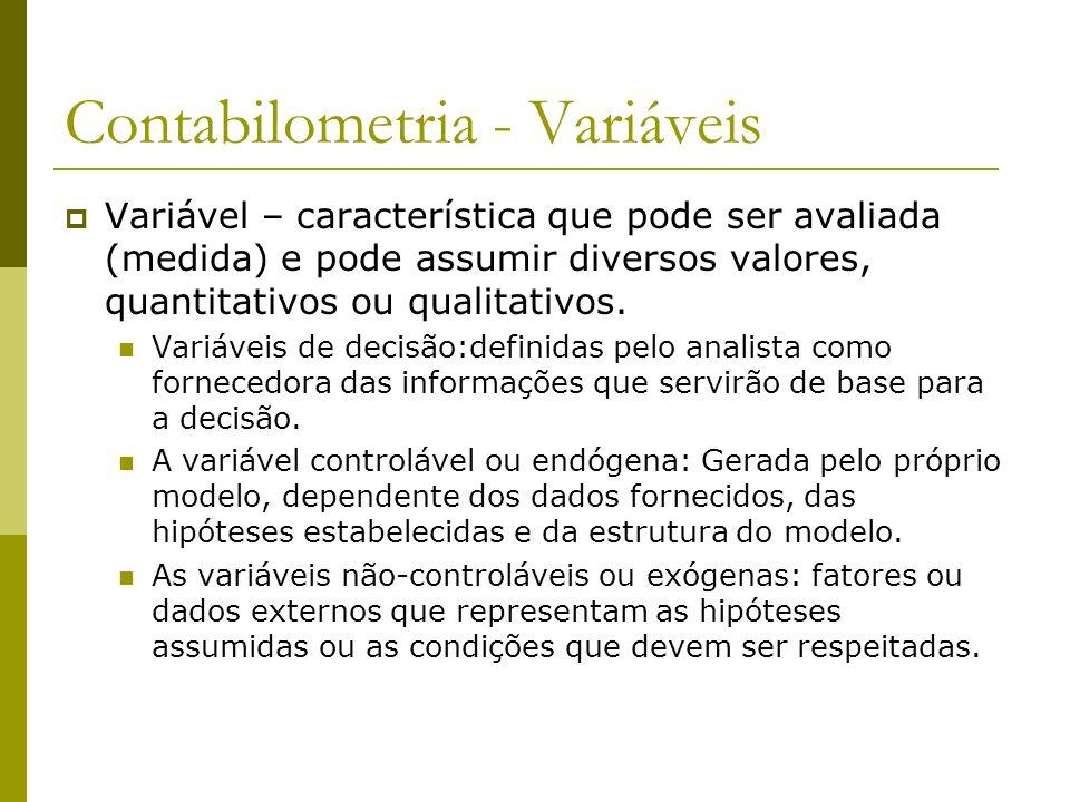 Contabilometria - Variáveis
