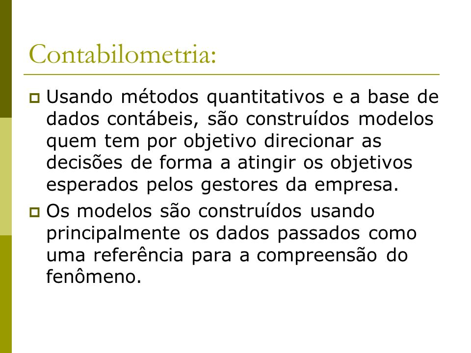 Contabilometria: