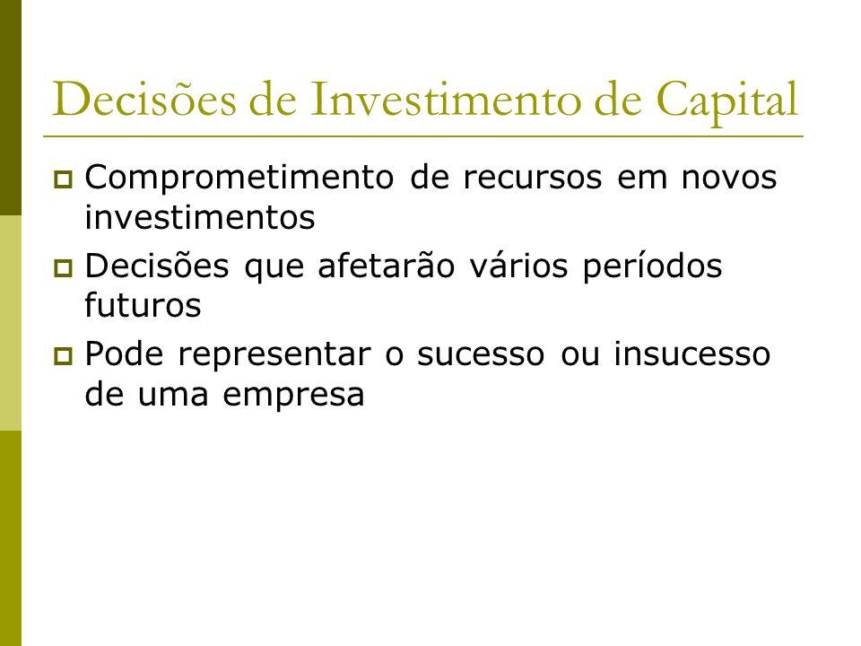 Decisões de Investimento de Capital