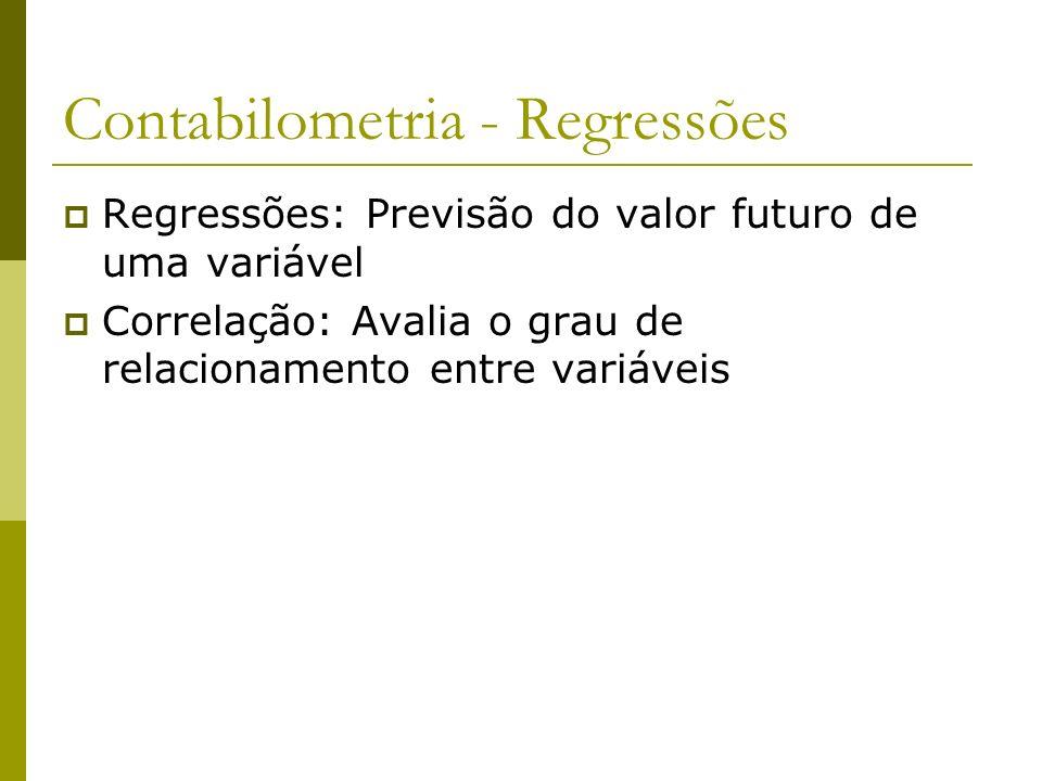 Contabilometria - Regressões