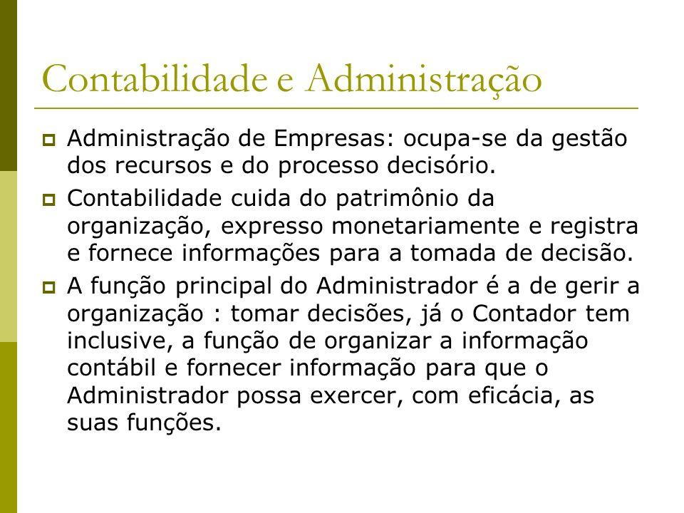 Contabilidade e Administração