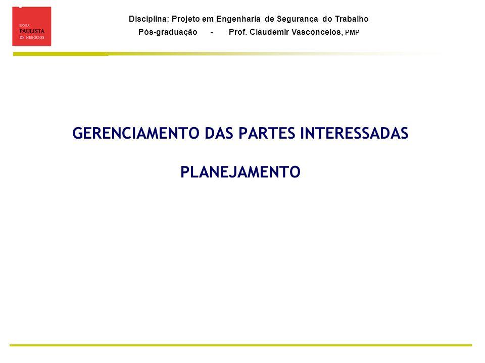 GERENCIAMENTO DAS PARTES INTERESSADAS PLANEJAMENTO