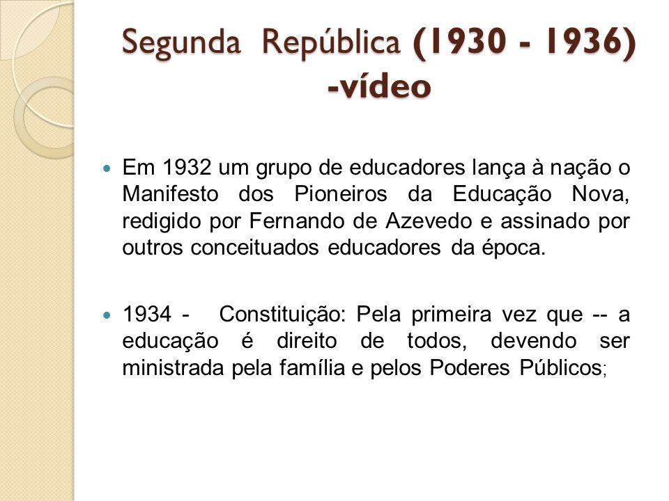 Segunda República (1930 - 1936) -vídeo