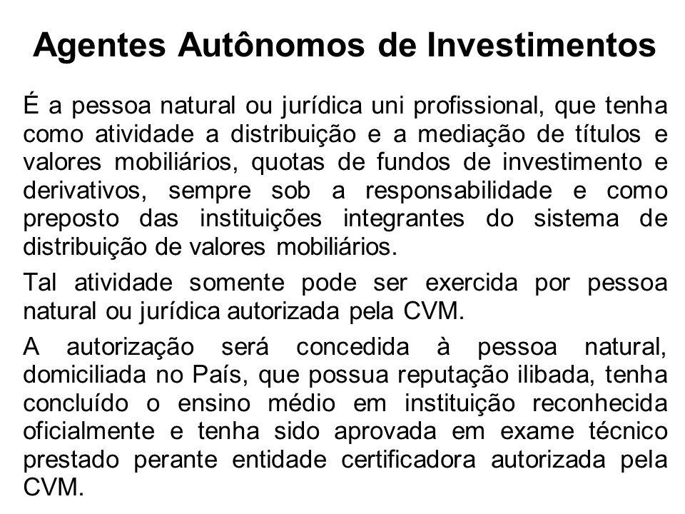 Agentes Autônomos de Investimentos