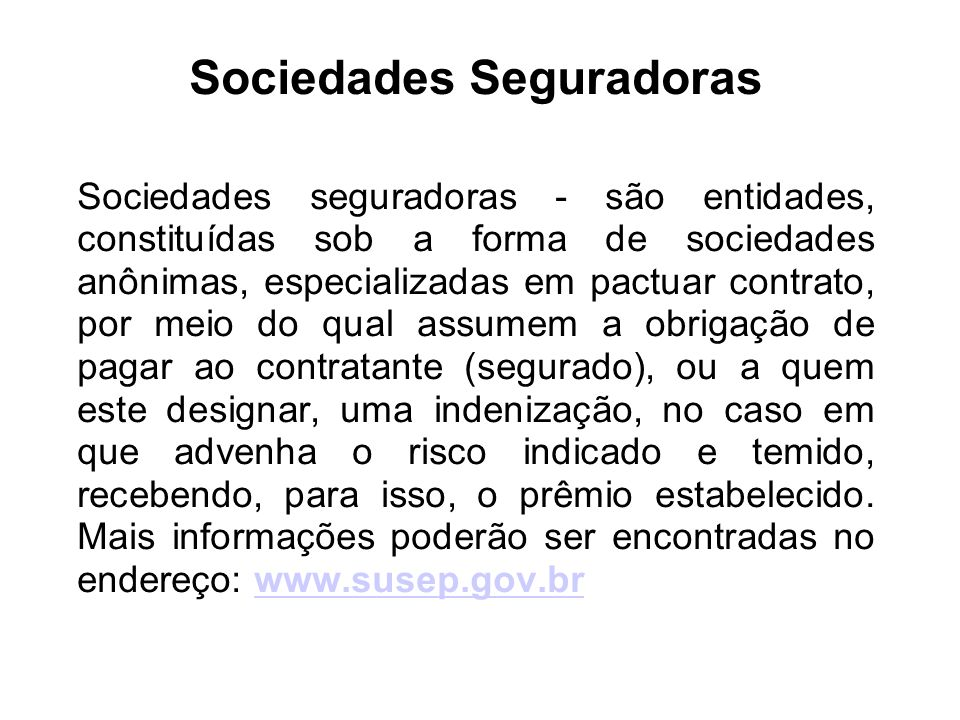 Sociedades Seguradoras