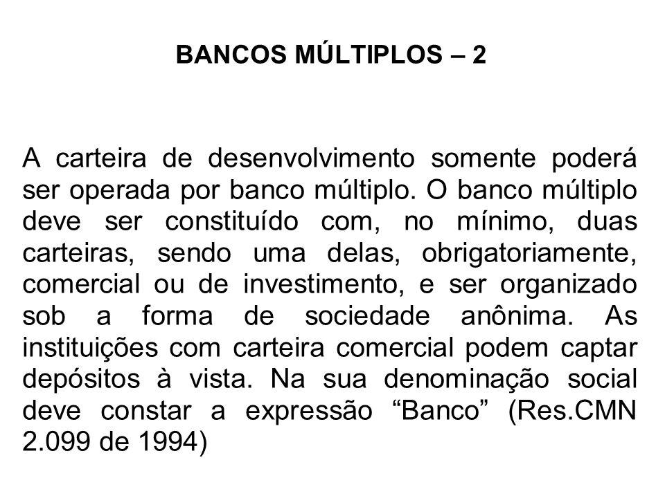 BANCOS MÚLTIPLOS – 2