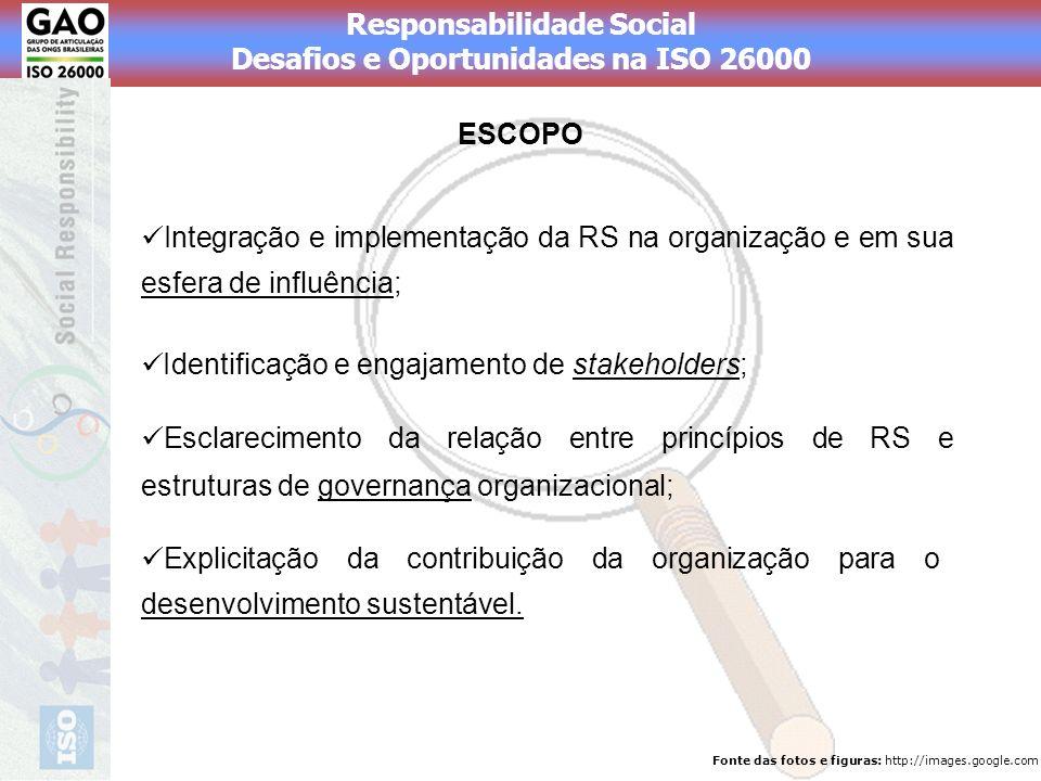 Identificação e engajamento de stakeholders;