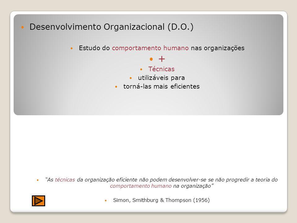 + Desenvolvimento Organizacional (D.O.)