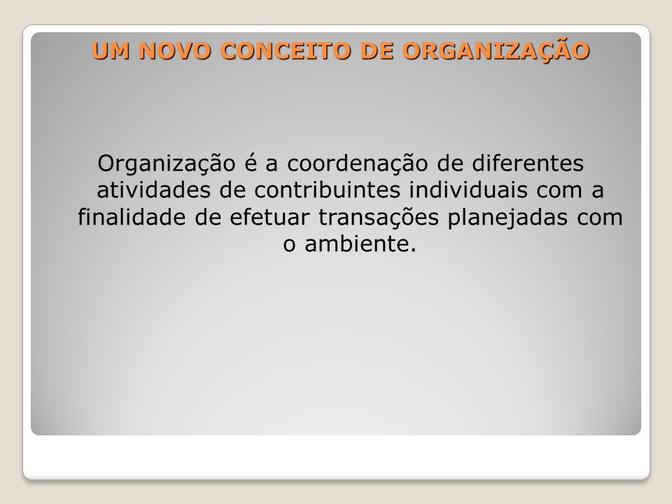 UM NOVO CONCEITO DE ORGANIZAÇÃO