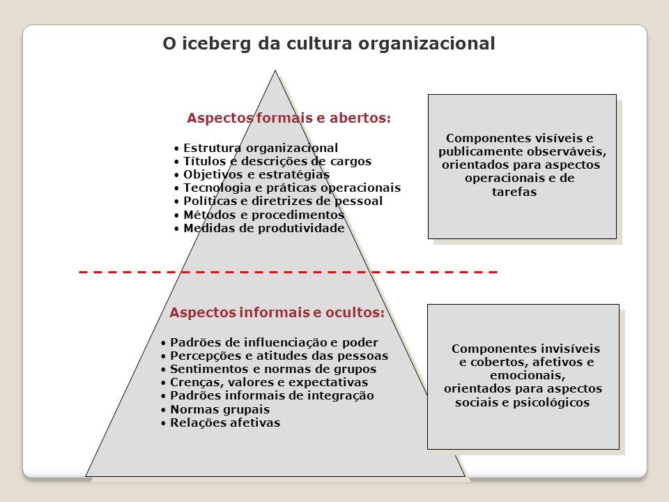 O iceberg da cultura organizacional