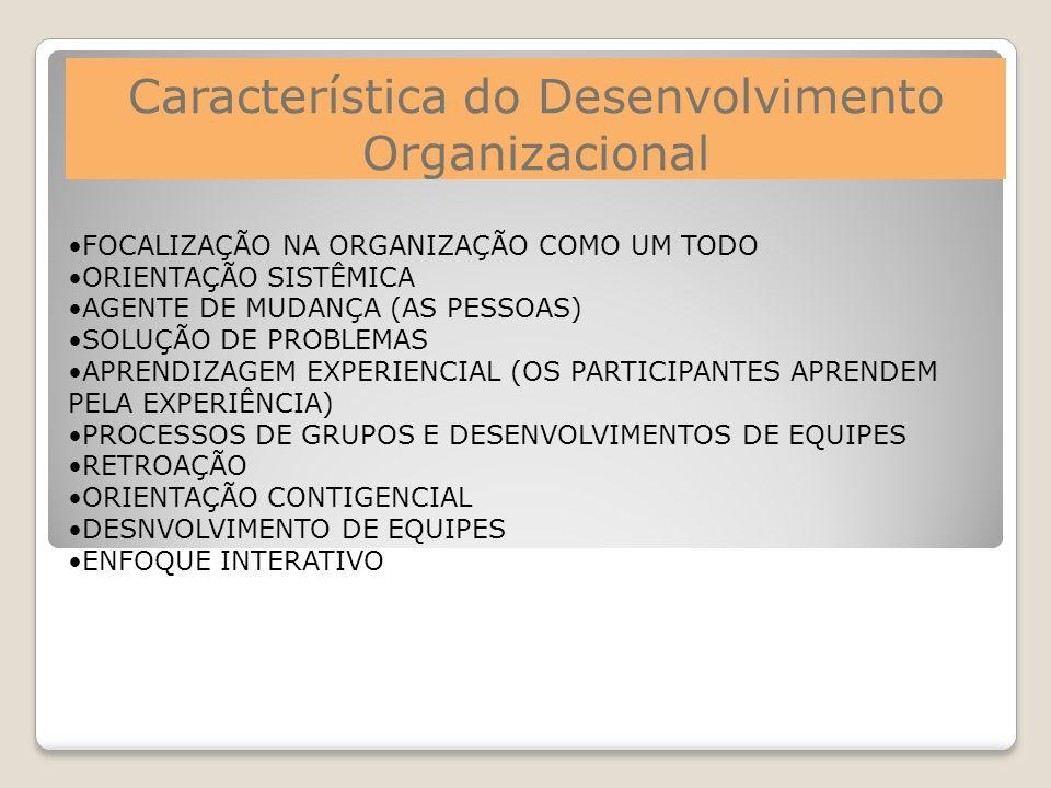 Característica do Desenvolvimento Organizacional