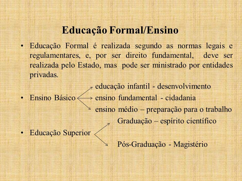 Educação Formal/Ensino
