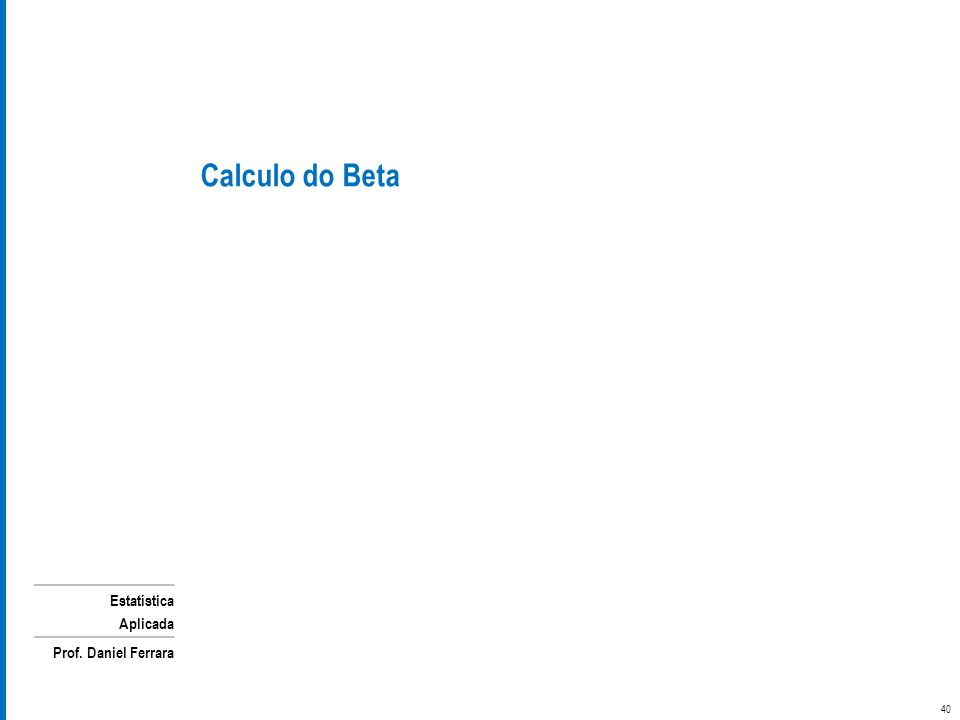Calculo do Beta
