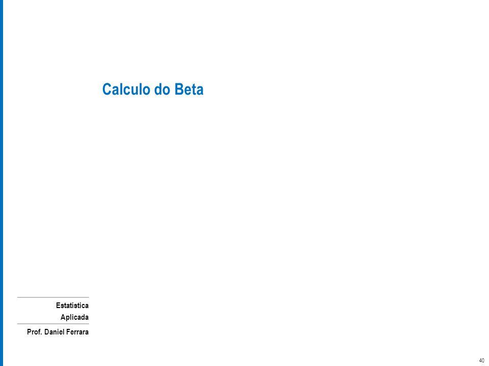 Calculo do Beta