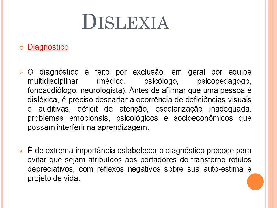 Dislexia Diagnóstico.