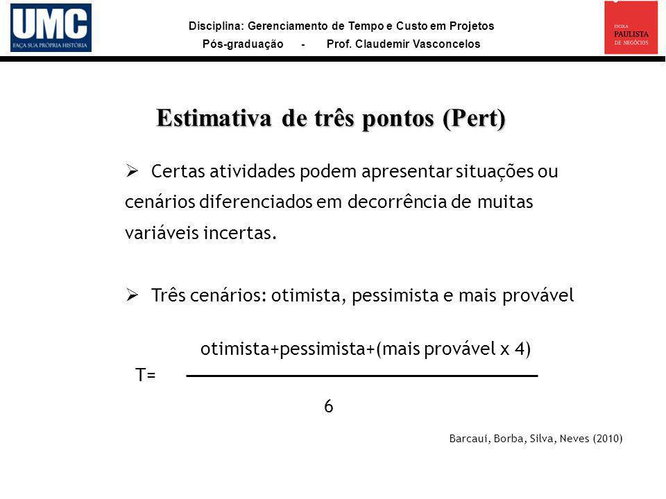 Estimativa de três pontos (Pert)