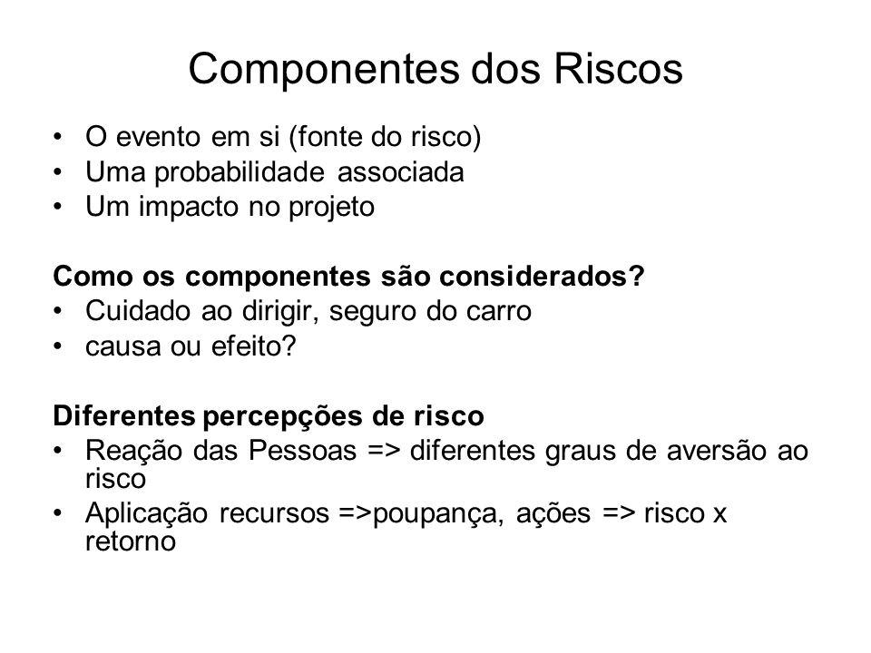 Componentes dos Riscos
