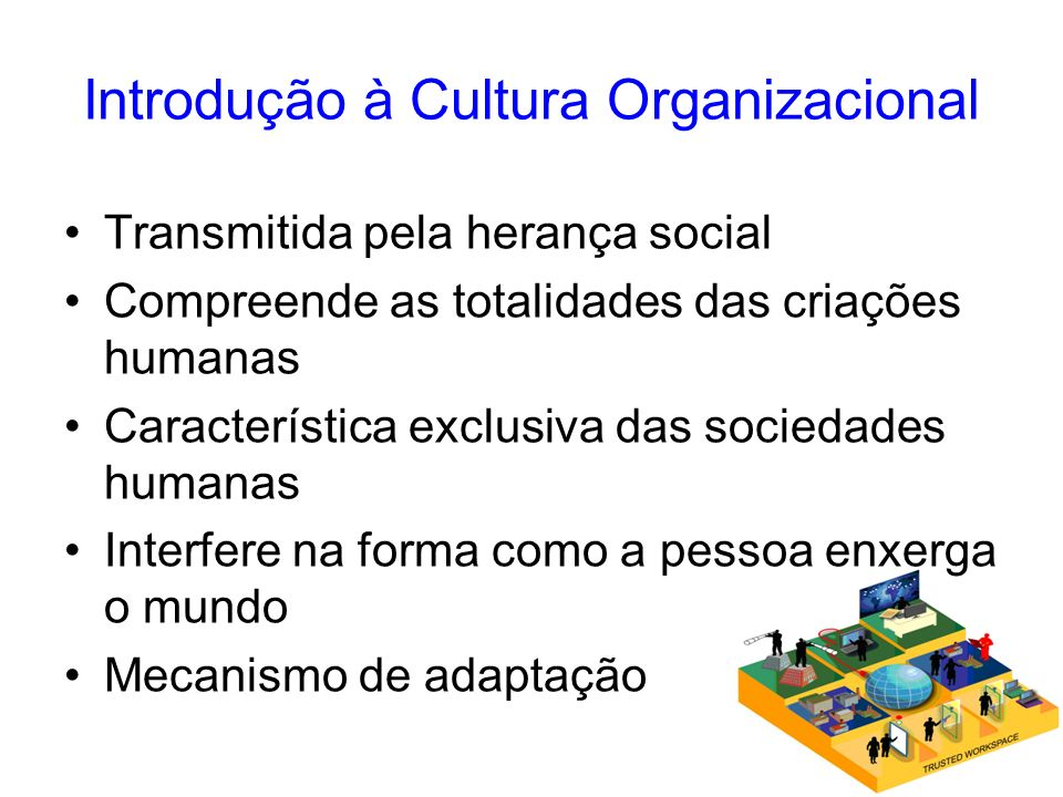 Introdução à Cultura Organizacional