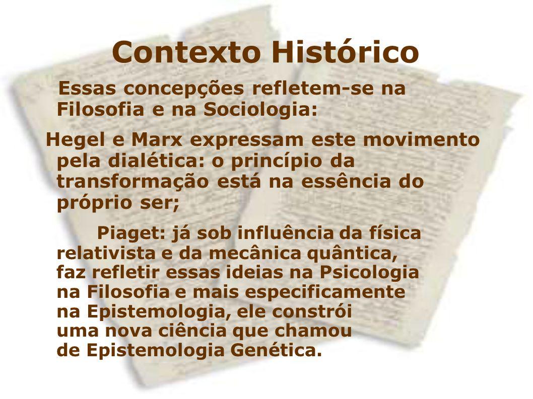 Contexto Histórico Essas concepções refletem-se na Filosofia e na Sociologia: