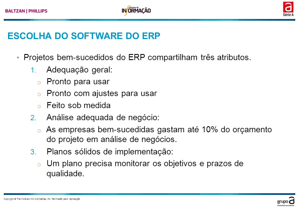 ESCOLHA DO SOFTWARE DO ERP