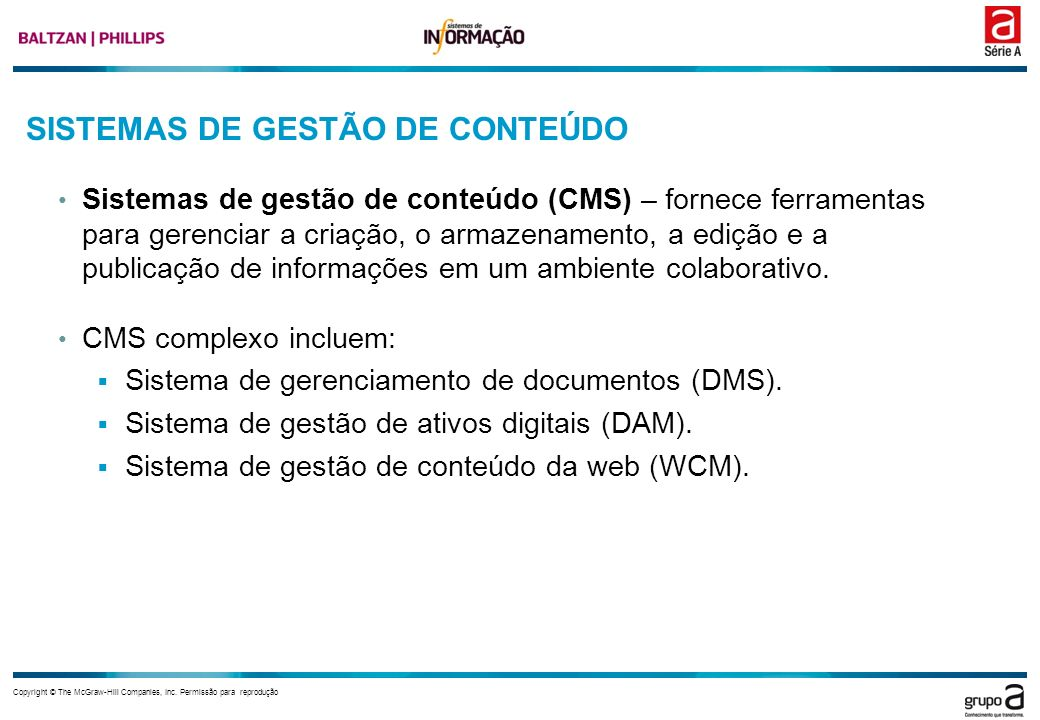 SISTEMAS DE GESTÃO DE CONTEÚDO
