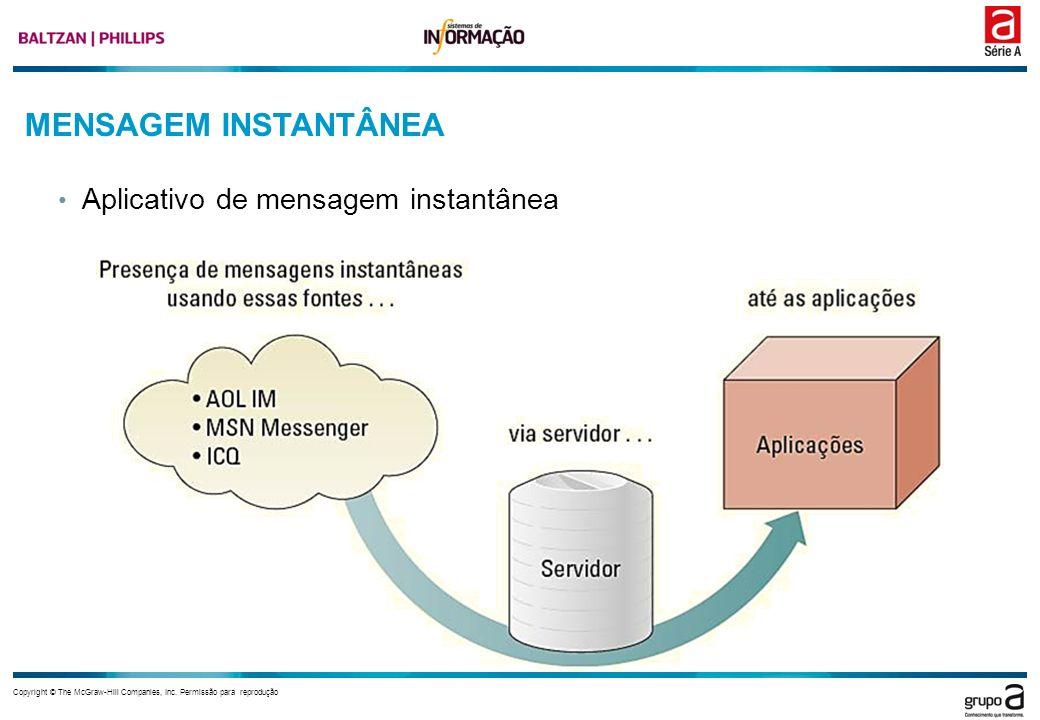 MENSAGEM INSTANTÂNEA Aplicativo de mensagem instantânea