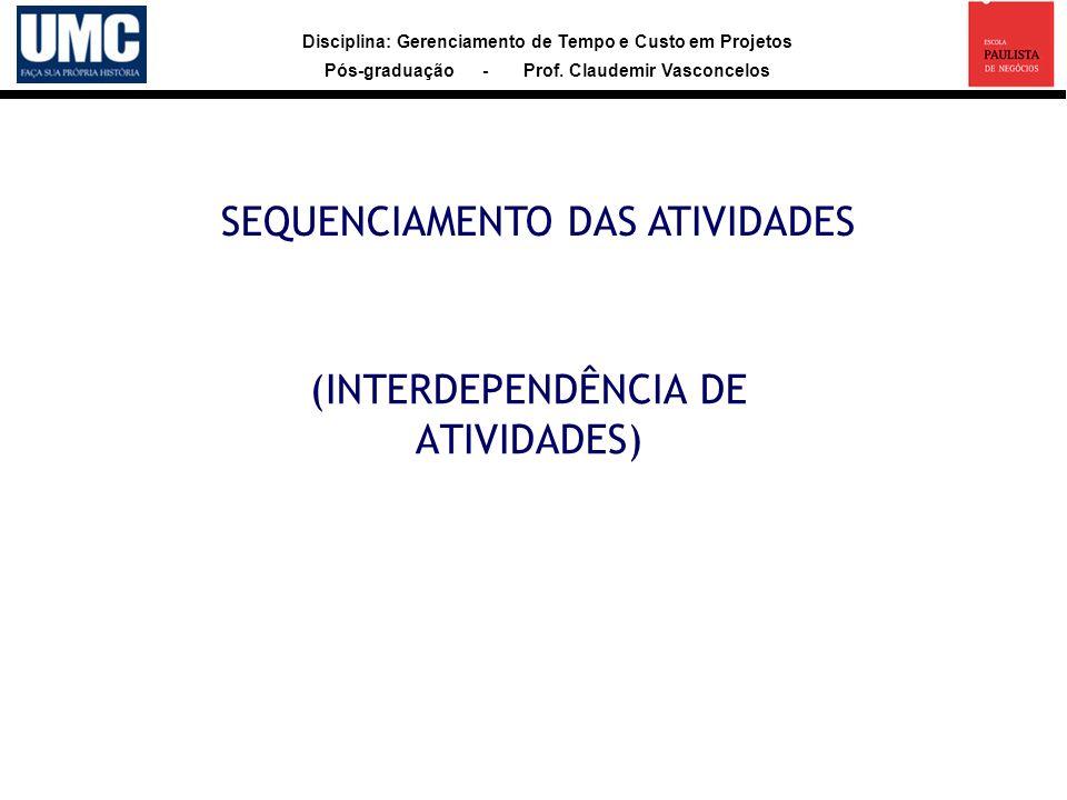 (INTERDEPENDÊNCIA DE ATIVIDADES)