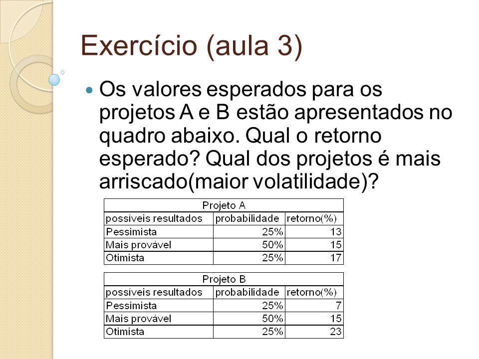 Exercício (aula 3)
