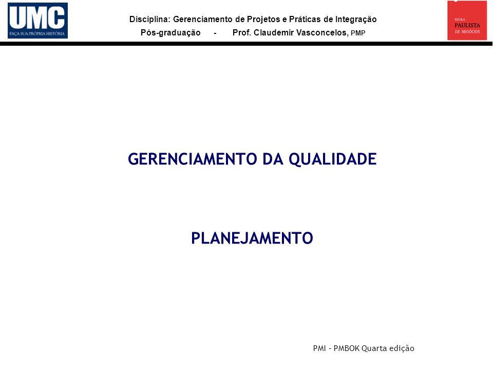 GERENCIAMENTO DA QUALIDADE PLANEJAMENTO