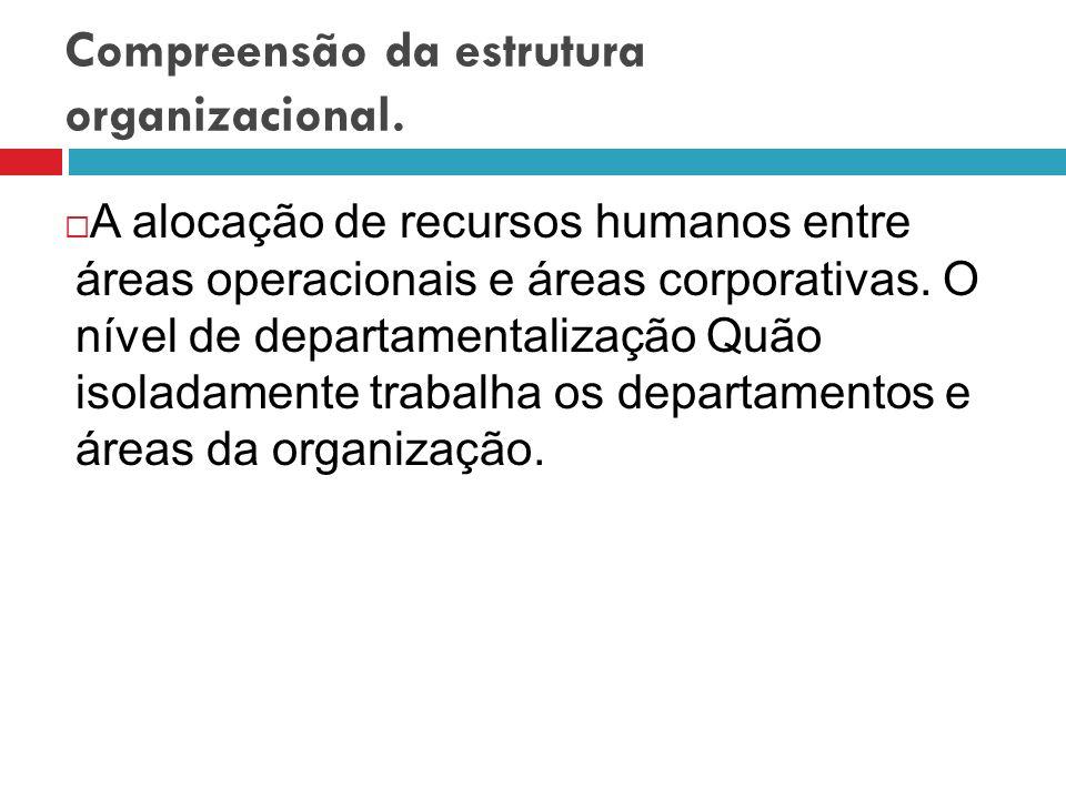 Compreensão da estrutura organizacional.