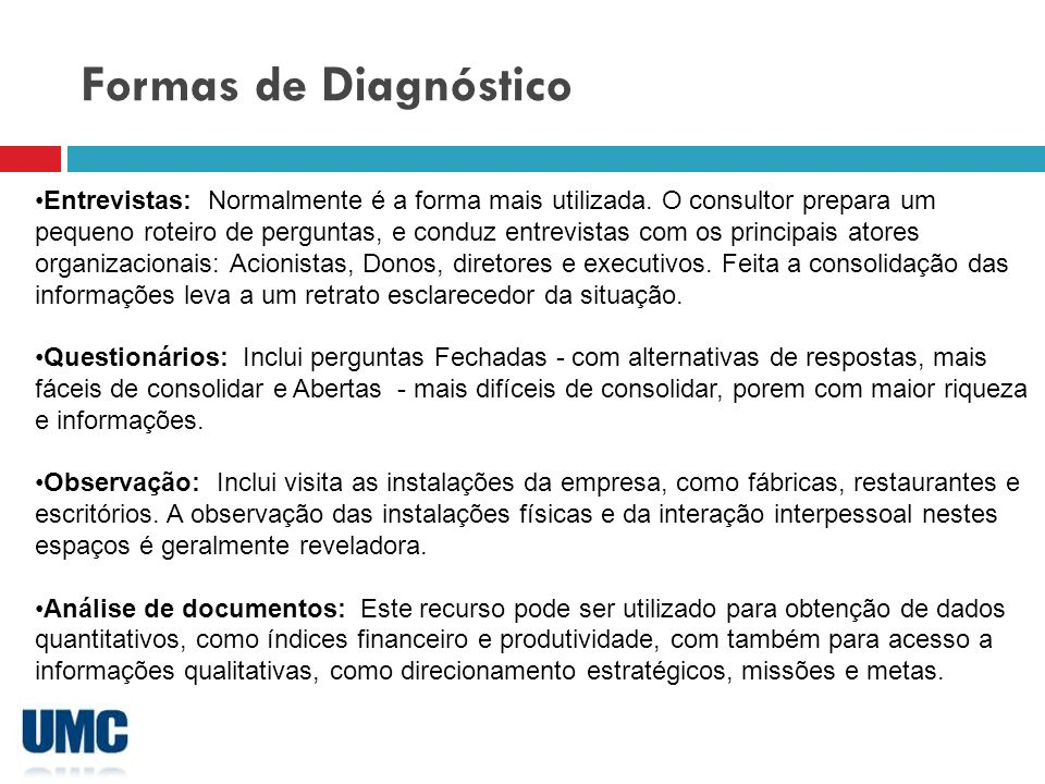 Formas de Diagnóstico
