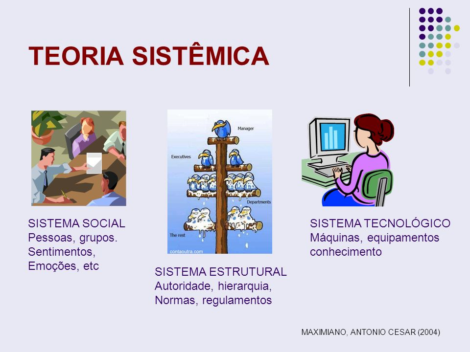 TEORIA SISTÊMICA SISTEMA SOCIAL Pessoas, grupos. Sentimentos,