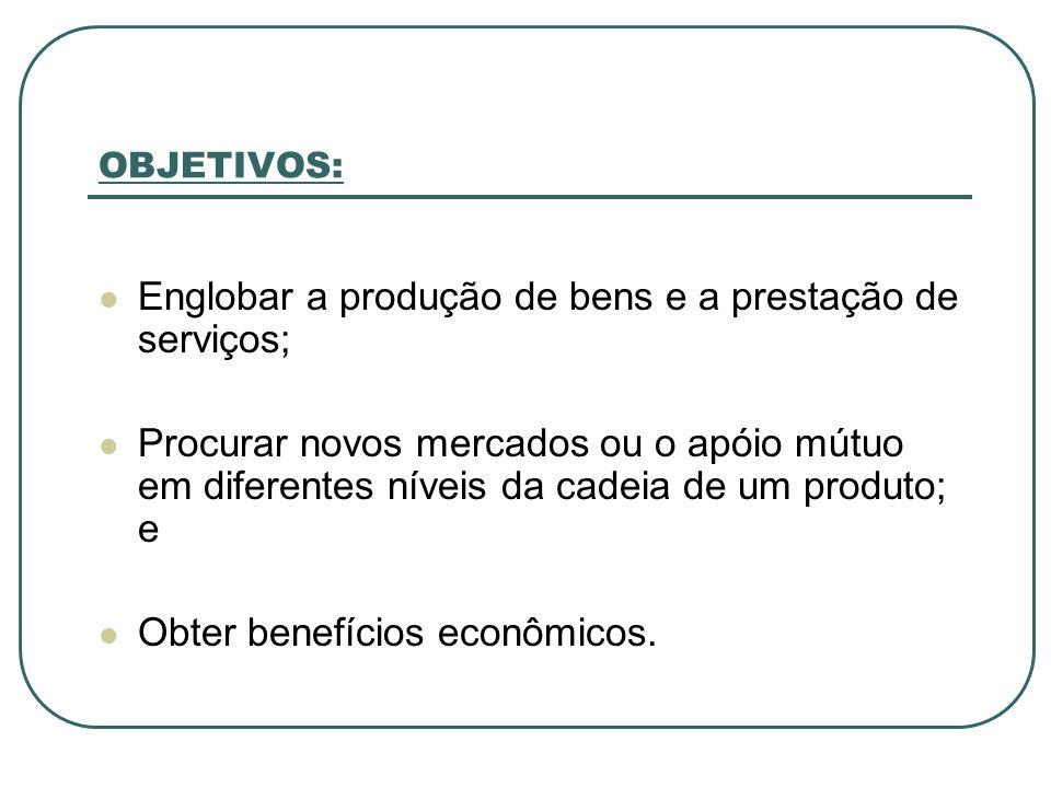 Englobar a produção de bens e a prestação de serviços;