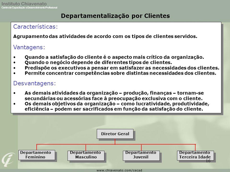 Departamentalização por Clientes