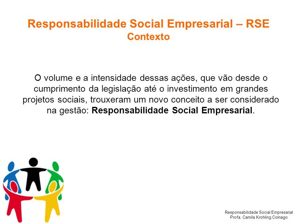 Responsabilidade Social Empresarial – RSE