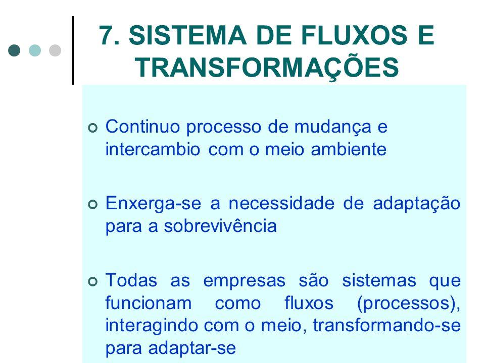 7. SISTEMA DE FLUXOS E TRANSFORMAÇÕES