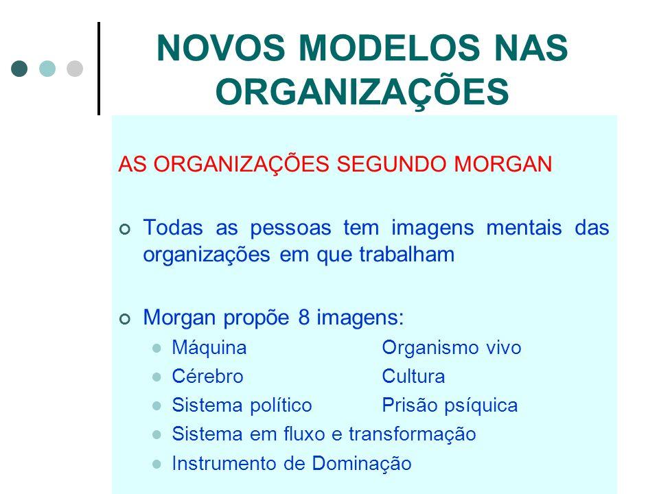 NOVOS MODELOS NAS ORGANIZAÇÕES