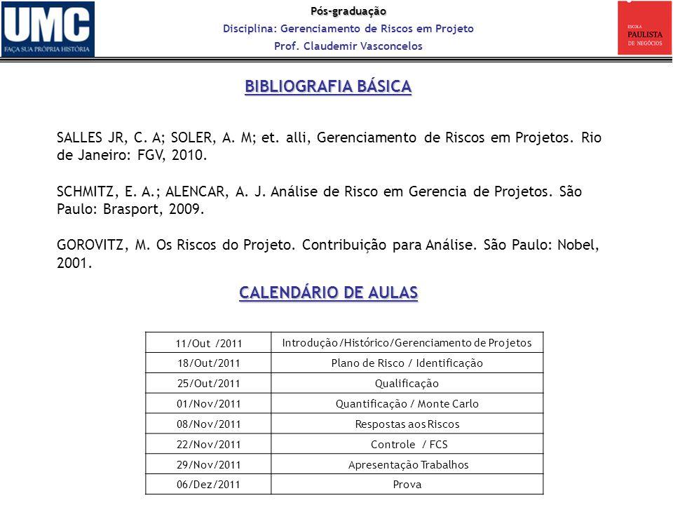 BIBLIOGRAFIA BÁSICA CALENDÁRIO DE AULAS