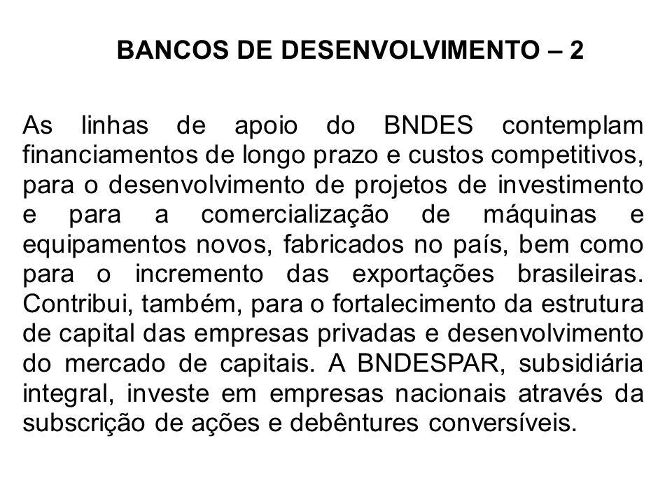 BANCOS DE DESENVOLVIMENTO – 2
