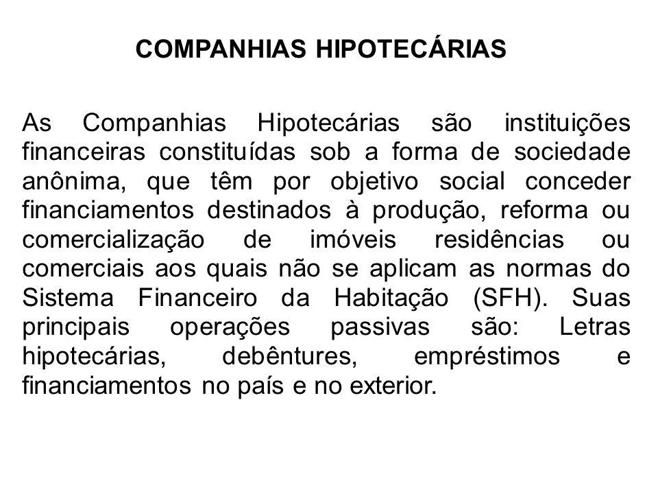 COMPANHIAS HIPOTECÁRIAS